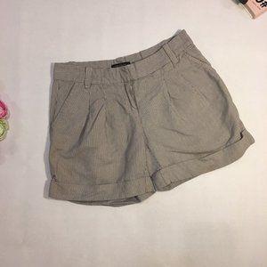 Ann Taylor Shorts Mini Cuff Gray Pinstriped Size 0